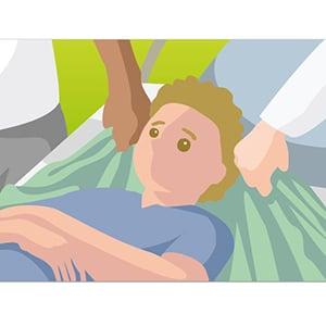 Horizontale Umlagerung mit Kopfstütze_Bild 1