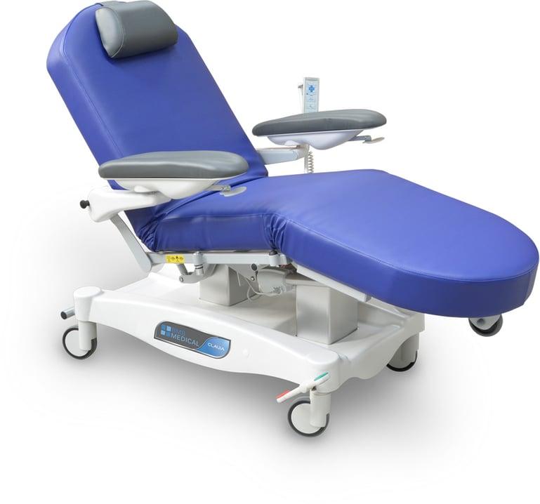 CLAVIA FCD elektrisch verstellbarer Behandlungssessel für Chemotherapie und Dialyse