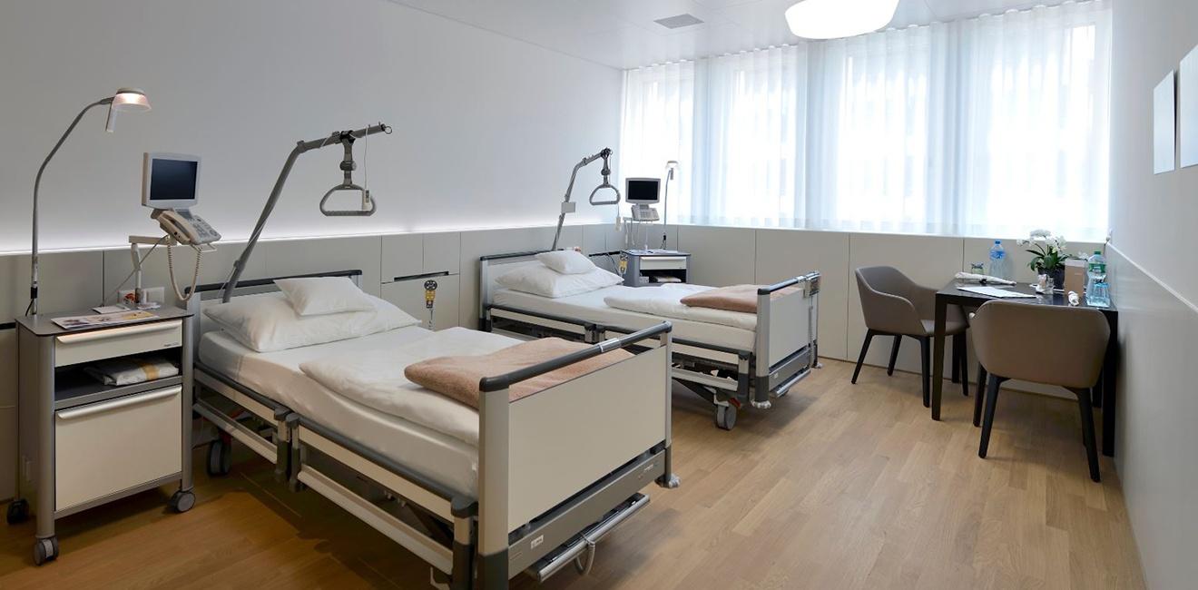 Zweibettzimmer im Spital